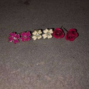 Cute flower earrings